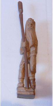 Holzfigur Rübezahl aus dem Erzgebirge