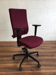 Bürodrehstuhl AdJust von Dauphin rot