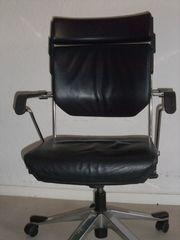 Schreibtisch-Rollenstuhl schwarz