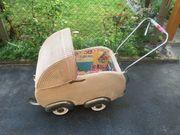 Kinderwagen Korb Retro 50er restauriert