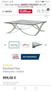 Couch Glastisch Hochwertig NP 899