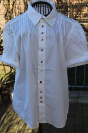 neuwertige weiße kurzärmlige Bluse von