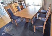 Esszimmer 6 Hochlehnerstühle 1 Tisch