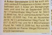 2 13ha Äcker 67229 GEROLSHEIM