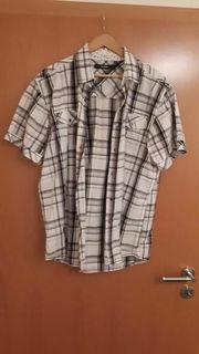 Herren Hemd Shirt schwarz weiß