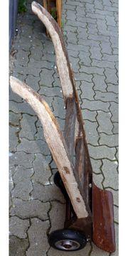 Urige Sackkarre aus Holz aus