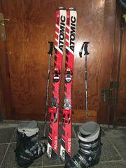 Kinder-Skiset komplett Ski Schuhe Stöcke