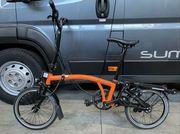 Brompton Black Edition H6RD Orange