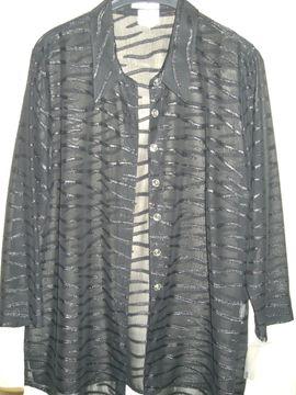 schwarze neue exklusive transparente Bluse: Kleinanzeigen aus Wuppertal Dönberg - Rubrik Damenbekleidung