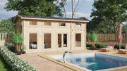 Holzhaus mit Schlafboden B XL