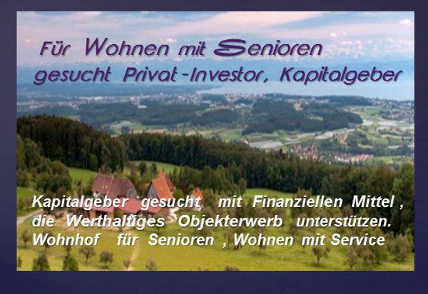 Suche Investor für Immobilie Lebenshof
