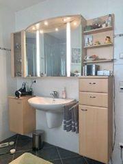 Badezimmer Spiegelschrank Möbel -Buche-Optik-
