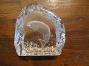 Bleikristall mit eingeschliffenem Fisch Fa