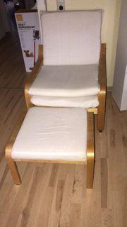 Relaxsessel in weiß von Ikea