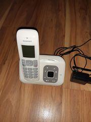 DECT Komforttelefon weiß Basisstation und