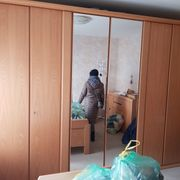 Schlafzimmerschrank helles echt Holz Whg -