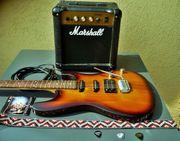 Ibanez Gitarren Set mit Marschall