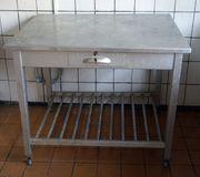 DDR Gastro Tisch Anrichte Alluminium