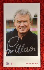 SEPP MAIER handsignierte Autogrammkarte FCB