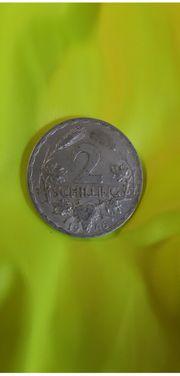 2-Schilling Münze