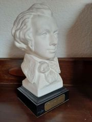 Goebel Büste Mozart auf Holzsockel