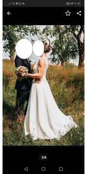 Brautkleid Hochzeitskleid Spitze elegant schlicht