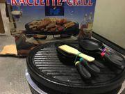 Raclette-Grill mit Auflage für Fleisch