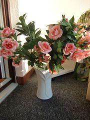 Kunstblumen Rosen Vase von Schirnding