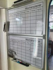 2 x Whiteboard Wochenplan Wandboard