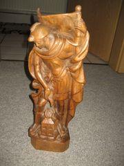 Holz-Statue Holz-Figur heiliger Florian Schutzpatron