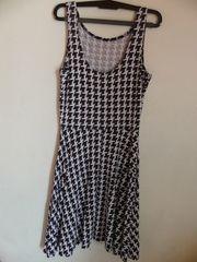 schwarz-weißes Kleid Größe 36 von