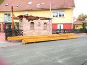 Holzkonstruktionsholz gestrichen Sikkens Eiche hell