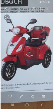 E-Trike bis 25km Freiheitsgefühl pur