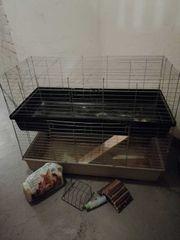 Meerschweinchenkäfig Kleintierkäfig Doppelstöckiger Käfig