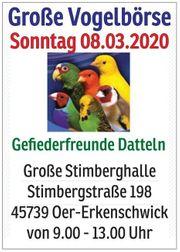 Große Vogelbörse am 8 03