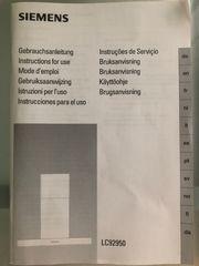 Edelstahldunstabzugshaube von Siemens Modell LC92950