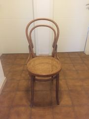 Stuhl Antik geflochtene Sitzfläche