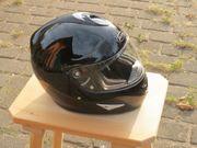 Motorradhelm Größe XL schwarz