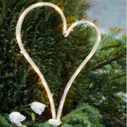 LED Herz Grabschmuck Dekoration mit