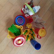 Kinderküchen-Teile Sandel-Sachen mehrere Teile siehe