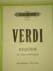 Noten für Verdi Requiem