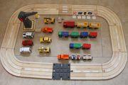Holz Eisenbahn Schienen Autobahn Züge