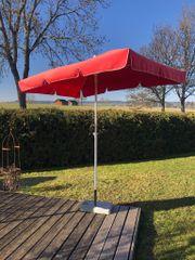 Sonnenschirm Stromeyer Rott mit Betonständer