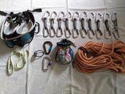 Kletterausrüstung komplett top Zustand anziehen