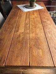 Holzteaktisch 220cm x 90cm