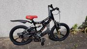 Kinder-Fahrrad HELLDOGS 16 Zoll schwarz