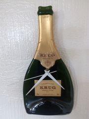 Wanduhr aus Glas Champagne Krug
