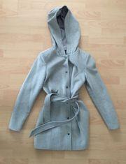 Mantel Jacke Kapuze grau Vero