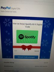 Spotify Geschenkkarte 60Euro
