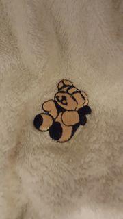 Kinderbademantel Teddybär Schwimmen Gr 80-86